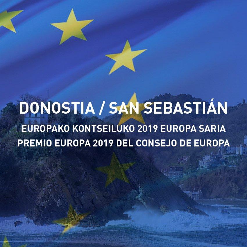 DONOSTIAK 2019ko EUROPA SARIA JASOKO DU