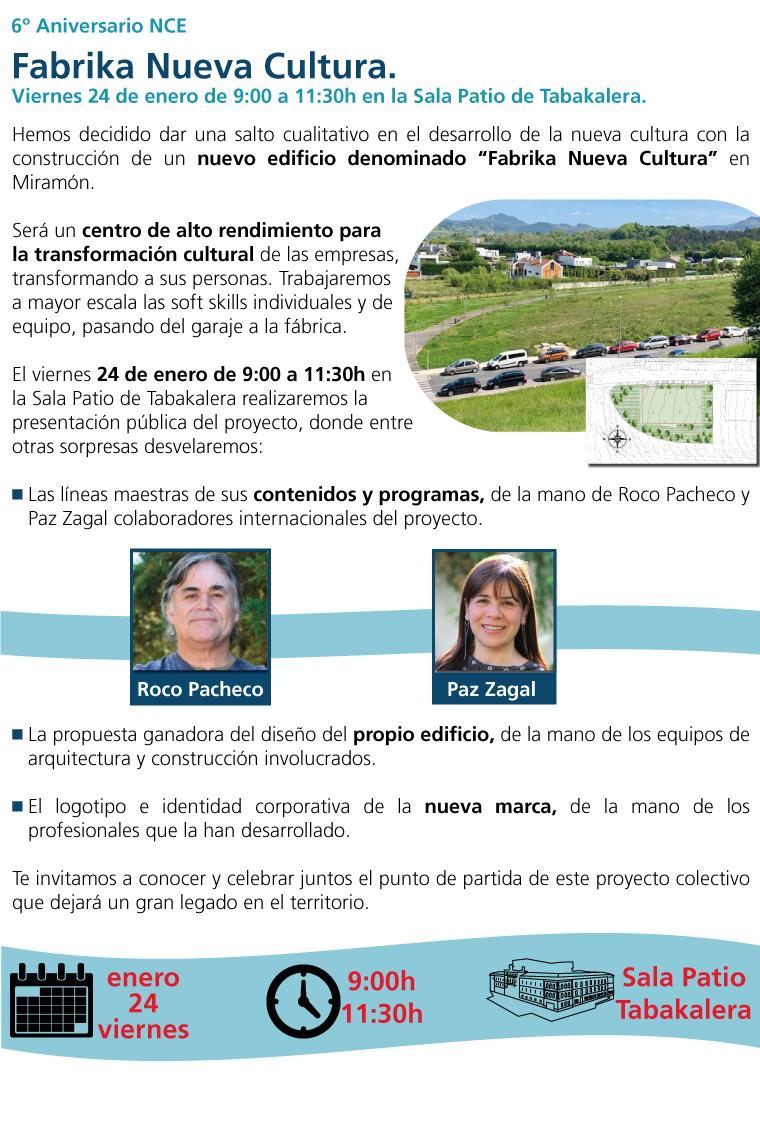 6º aniversario NCE: Fabrika Nueva Cultura