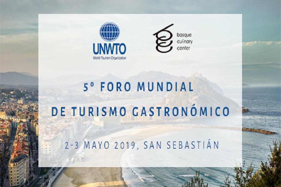 Turismo Gastronomikoaren Munduko 5. Foroa Donostian ospatuko da