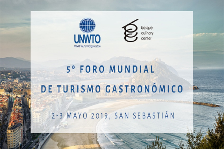Donostia acogerá el 5.º Foro Mundial de Turismo Gastronómico