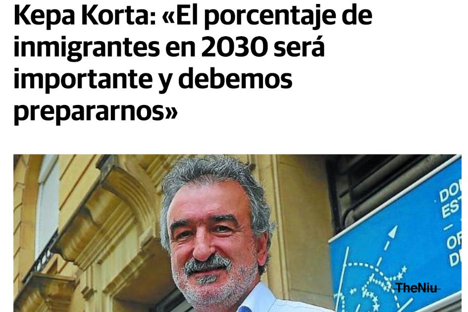Kepa Korta: «El porcentaje de inmigrantes en 2030 será importante y debemos prepararnos»