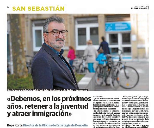 Kepa Korta-ri elkarrizketa El Diario Vasco-n