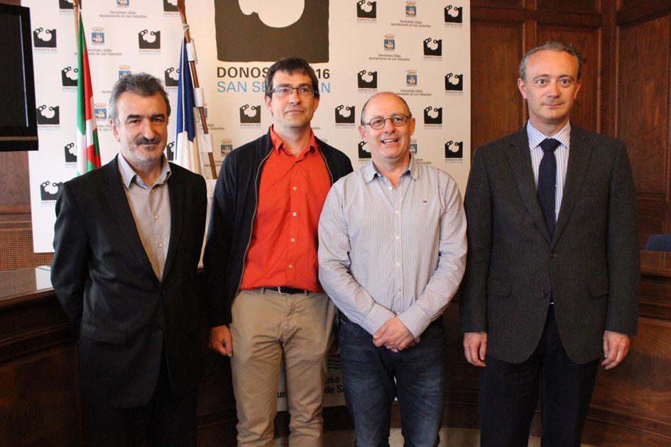 Kepa Korta, Jose María Sarriegui, Juan Karlos Izagirre eta Iñigo Puente