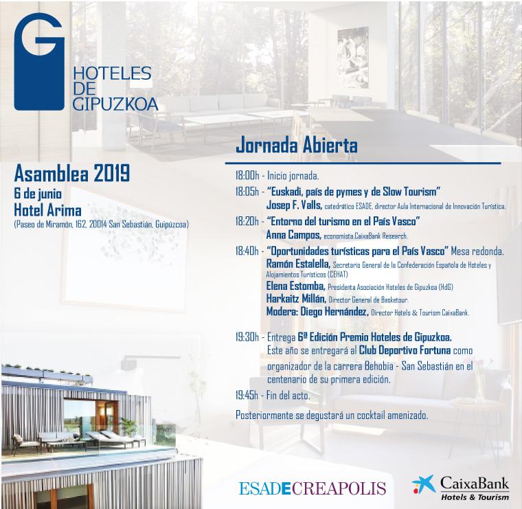 Hoteles de Gipuzkoa 2019ko Jardunaldia irekia