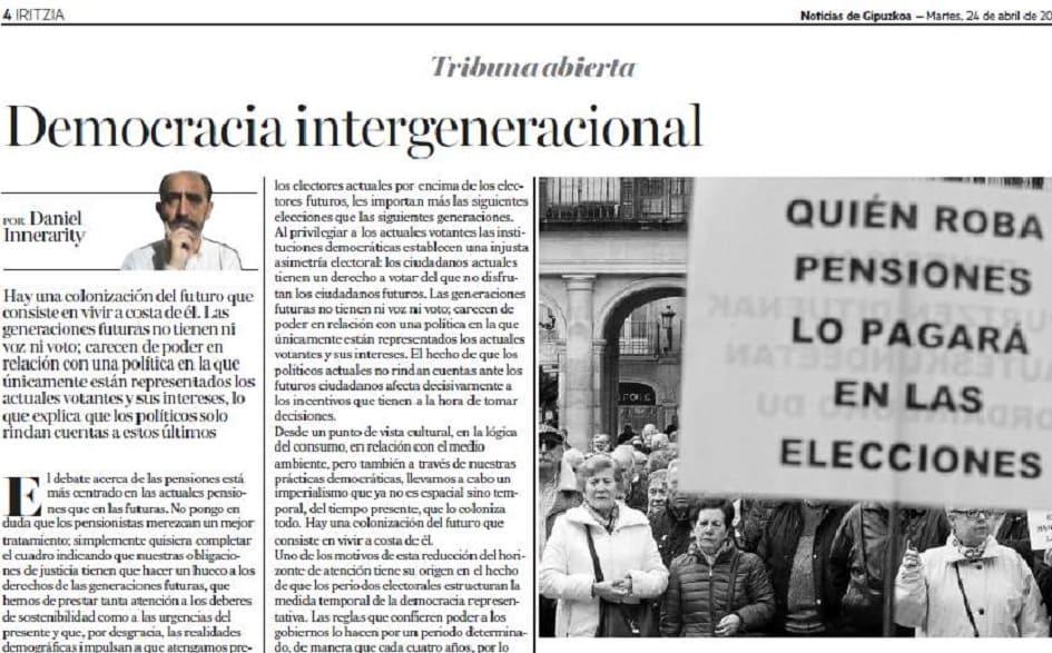 Democracia intergeneracional