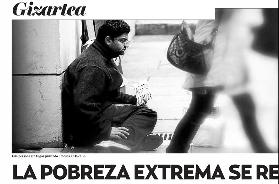 La pobreza extrema se recrudece para 38.000 guipuzcoanos