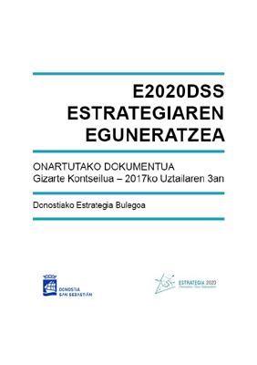 E2020DSS Estrategiaren eguneratzea. Onartutako dokumentua